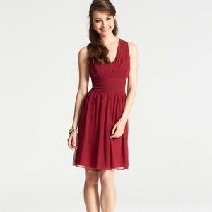 NWT Ann Taylor Silk Georgette Pleat Tank Dress 6p